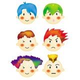 chłopcy 2 styl włosów royalty ilustracja