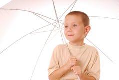 chłopcy 3 parasolkę Fotografia Stock