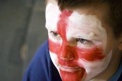chłopcy anglików twarzy flagę Obraz Stock
