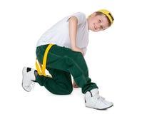 chłopcy dorosłych taniec taniec zielone źle czarnych dżinsy garniturze góry męskie potomstwo nastolatków Obrazy Royalty Free