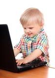 chłopcy laptop Fotografia Stock