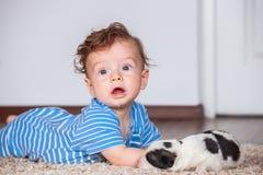 chłopcy 7 miesięcy Obraz Stock