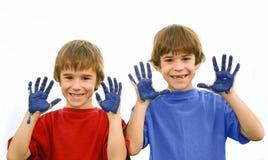 chłopcy namalować Zdjęcia Royalty Free
