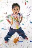 chłopcy objętych farby splatter young Obraz Stock