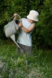 chłopcy ogrodnik mała Fotografia Royalty Free
