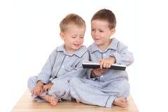 chłopcy pijama fotografia stock