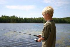 chłopcy połowów fotografia stock