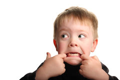 chłopcy słodką twarz robi young śmieszne Obrazy Stock
