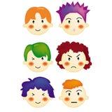 chłopcy styl włosów ilustracji