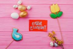 chłopcy tła Wielkanoc jajka miłych jaj trawy zielone świeżego ukryte hunt wyizolował poszukiwania white zdjęcia stock