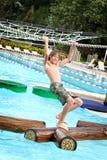 chłopcy waterpark fotografia stock