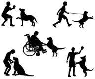 chłopcy zbierania jego pies grał royalty ilustracja