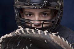 chłopiec łapacza rękawiczki maska s Fotografia Stock