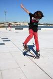 chłopiec łyżwa Zdjęcie Royalty Free