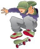 chłopiec łyżwiarka Obraz Royalty Free