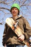 chłopiec łyżwiarka Obraz Stock