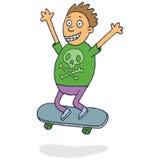 Chłopiec łyżwiarstwo royalty ilustracja