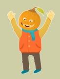 chłopiec śliczna hallowen bani Obrazy Royalty Free