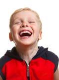 Chłopiec śmiać się zdjęcie stock