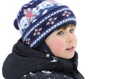 chłopiec śnieg Zdjęcia Royalty Free