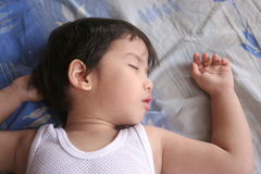 chłopiec śpi Zdjęcie Royalty Free
