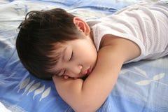 chłopiec śpi Fotografia Royalty Free