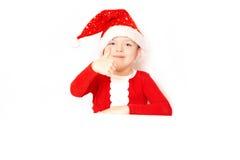 Chłopiec Święty Mikołaj zdjęcia stock