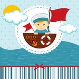 Chłopiec żeglarz ilustracja wektor