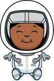 Chłopiec astronauta obsiadanie ilustracji