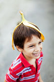 Chłopiec błaź się wokoło Obraz Royalty Free