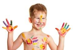 chłopiec barwiąca Zdjęcia Royalty Free