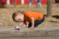 chłopiec bawić się Fotografia Stock