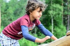 chłopiec bawić się Zdjęcia Royalty Free