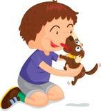 chłopiec bawić się ilustracja wektor