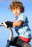 Chłopiec bawić się modela Fotografia Stock