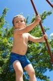 Chłopiec przy sztuką Zdjęcie Royalty Free