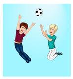 Chłopiec bawić się piłkę Obraz Stock