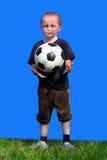 chłopiec bawić się piłkę nożną Zdjęcie Stock