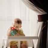 Chłopiec Bawić się Z Jego zabawką obraz royalty free