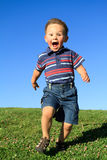chłopiec bieg Zdjęcia Royalty Free