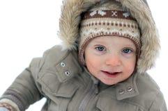 chłopiec biel śliczny odosobniony Zdjęcia Stock