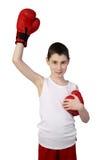 Chłopiec boksera zwycięzca Zdjęcie Stock