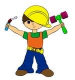 chłopiec budowa Obraz Stock