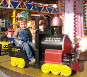 chłopiec carrousel Obraz Stock