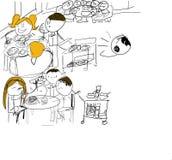 chłopiec charakteru rysunkowa ilustracja odizolowywający dzieciak Fotografia Stock