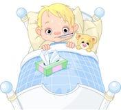 chłopiec choroba ilustracja wektor