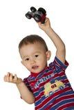 chłopiec ciągnik Obrazy Royalty Free