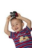 chłopiec ciągnik Zdjęcia Stock