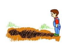 chłopiec cień ilustracji