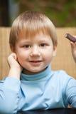 chłopiec cukierku czekolada trochę Obrazy Royalty Free